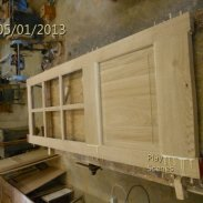 Purpose made solid oak door