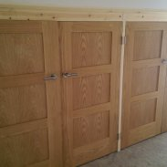 Cut down shaker doors, To fit opening